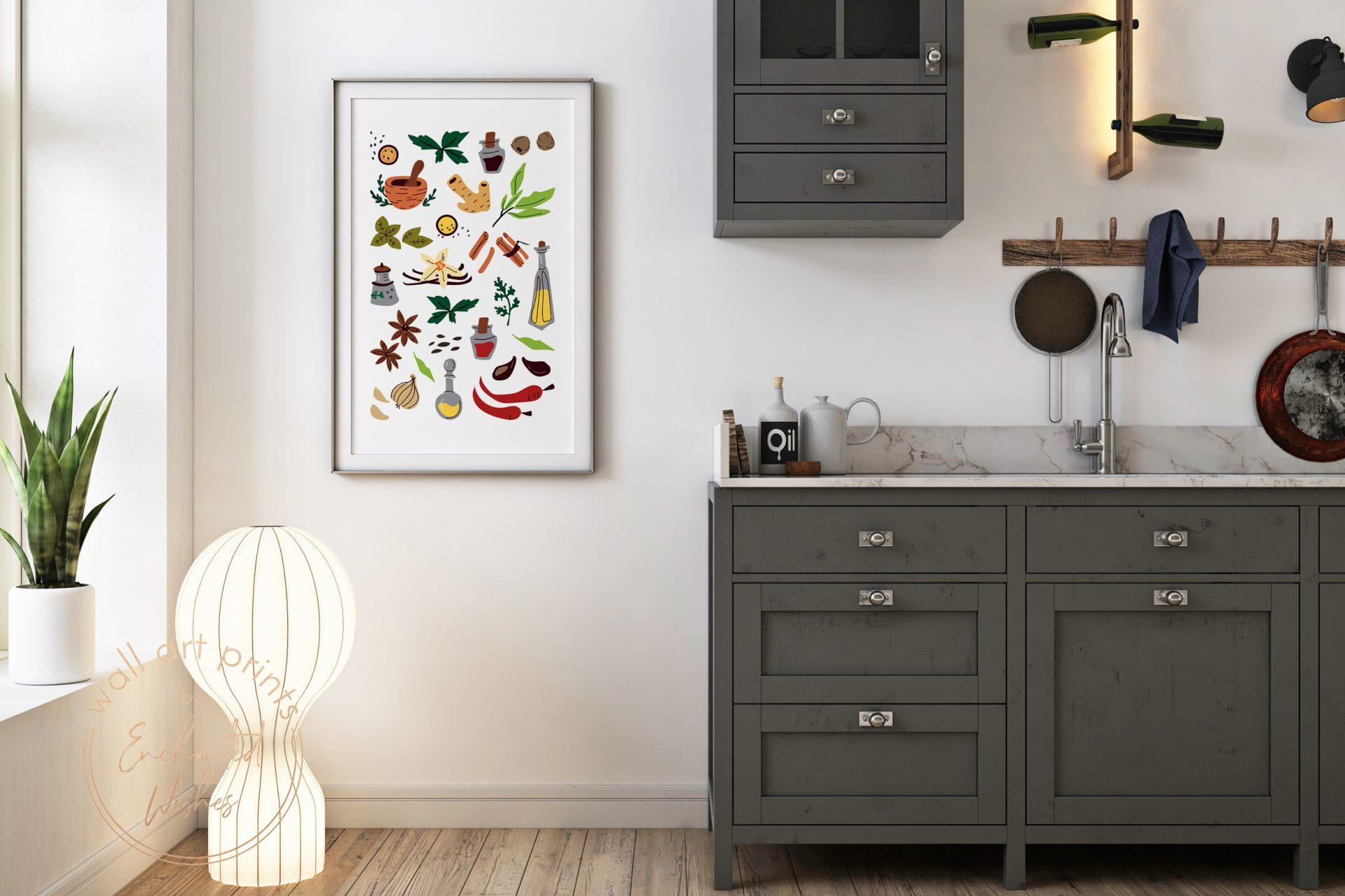 Kitchen doodles print