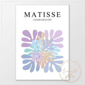 Matisse pastel cut outs print