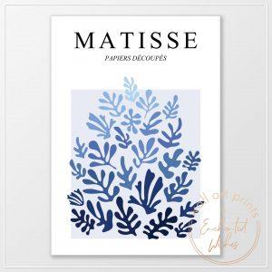 Matisse blue cut outs print