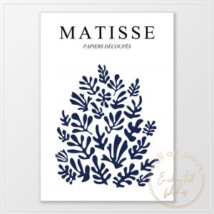 Matisse navy cut outs print