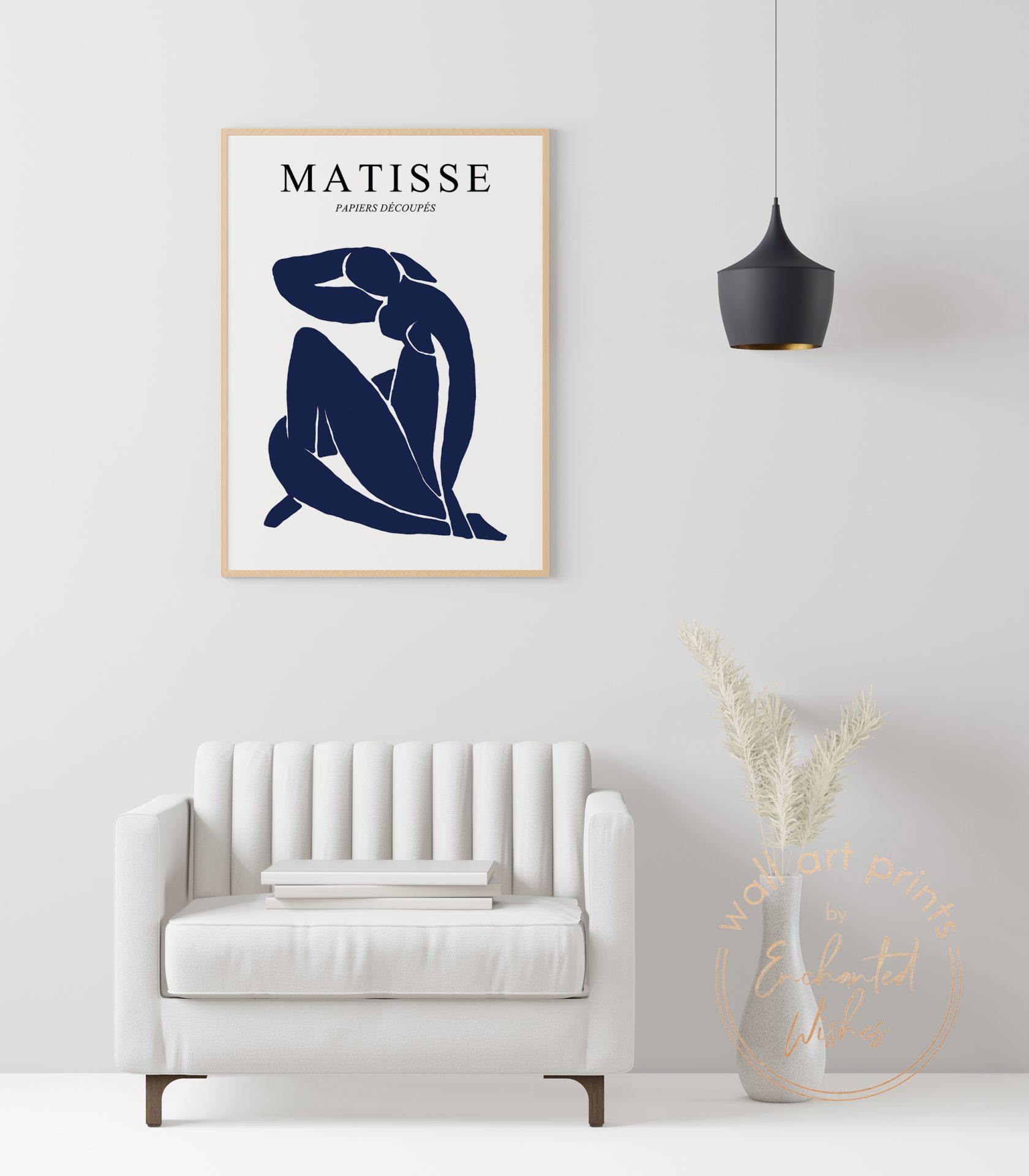 Matisse figure cut out print