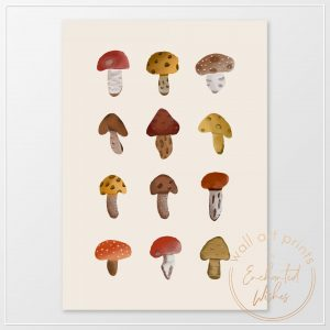 Mushrooms print