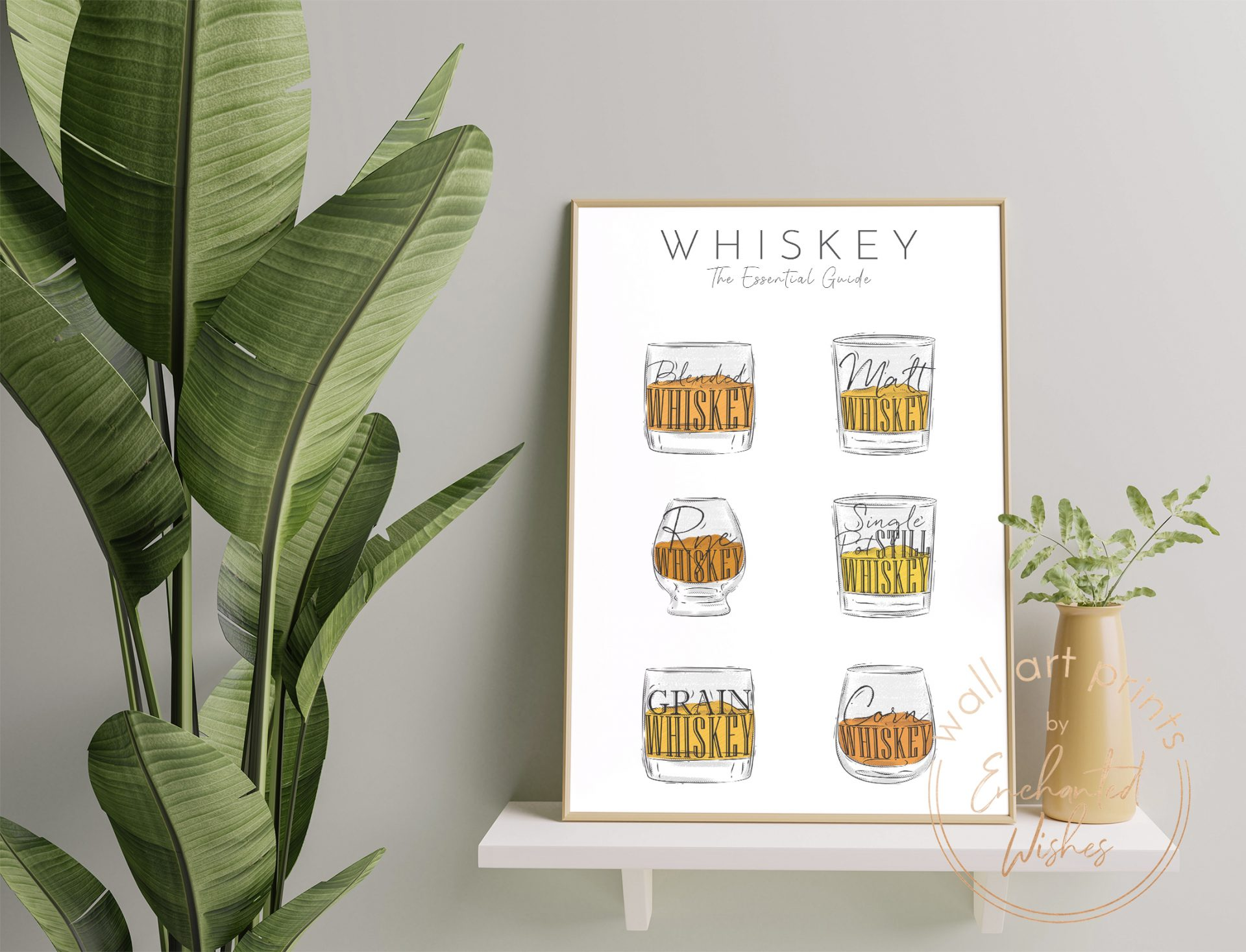 Whiskey guide print