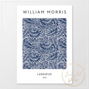 William Morris Larkspur Print