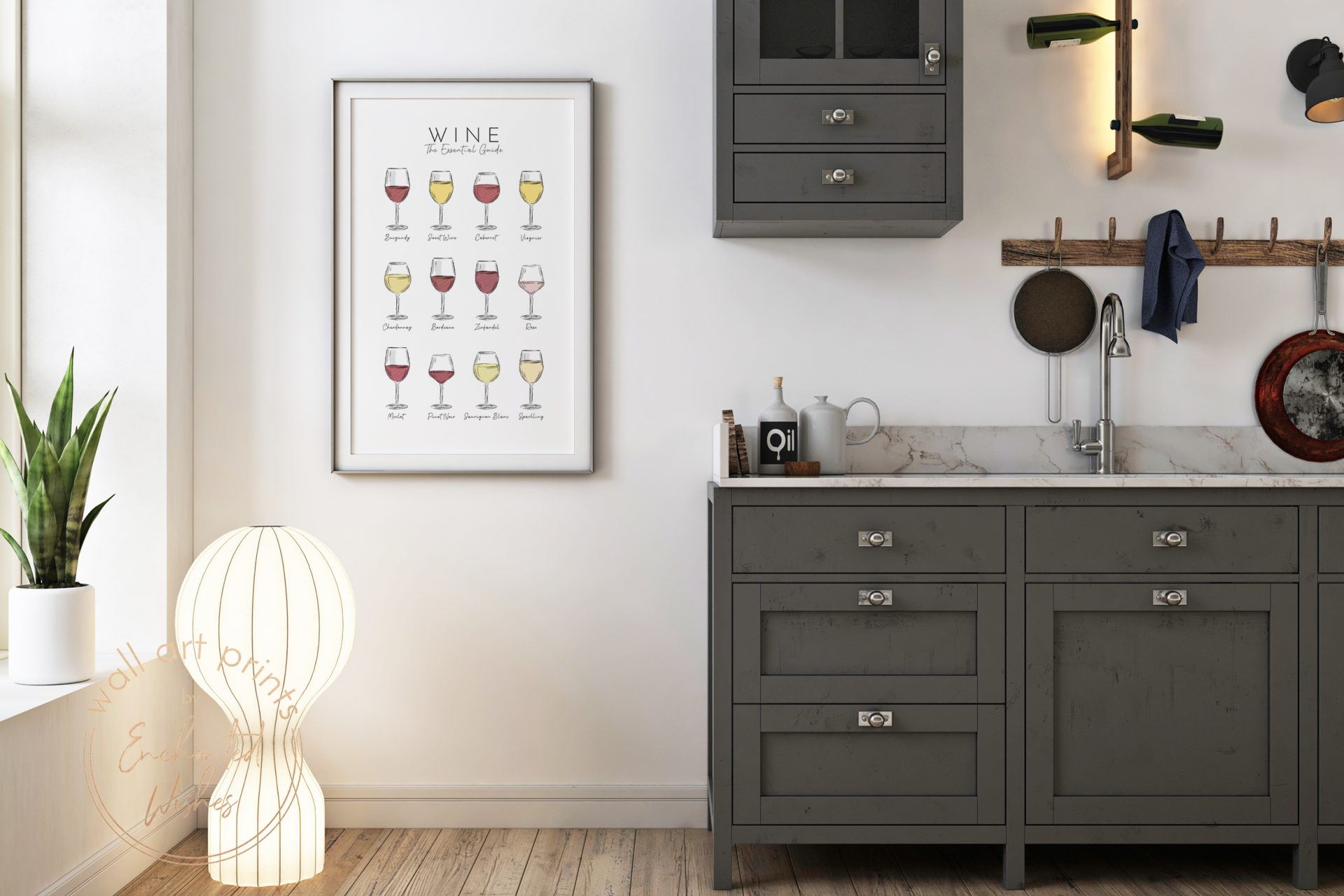 Wine guide print